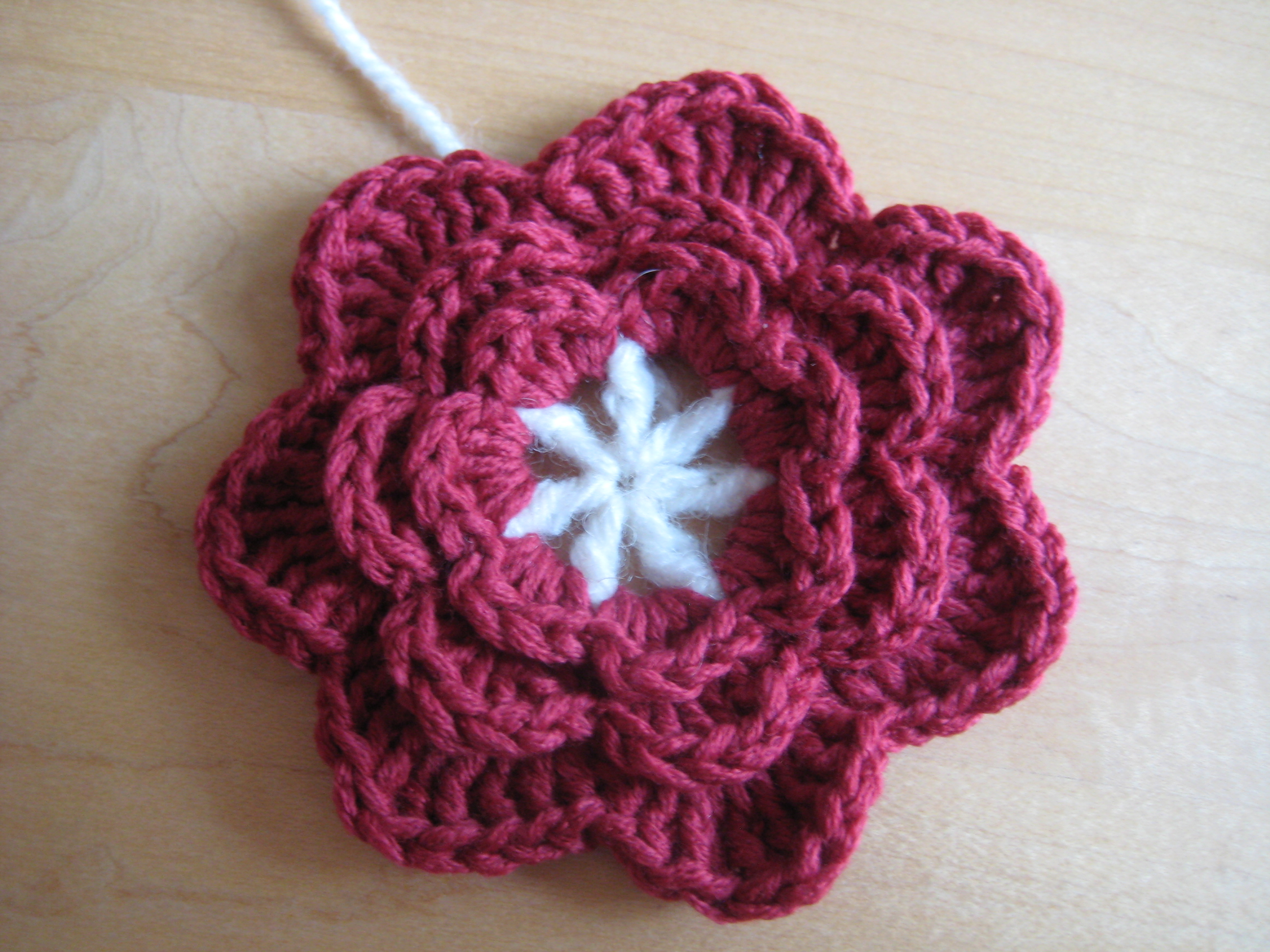 Crochet Flower Pattern Pictures : Triple Layer Petals Flower Pattern Make My Day Creative