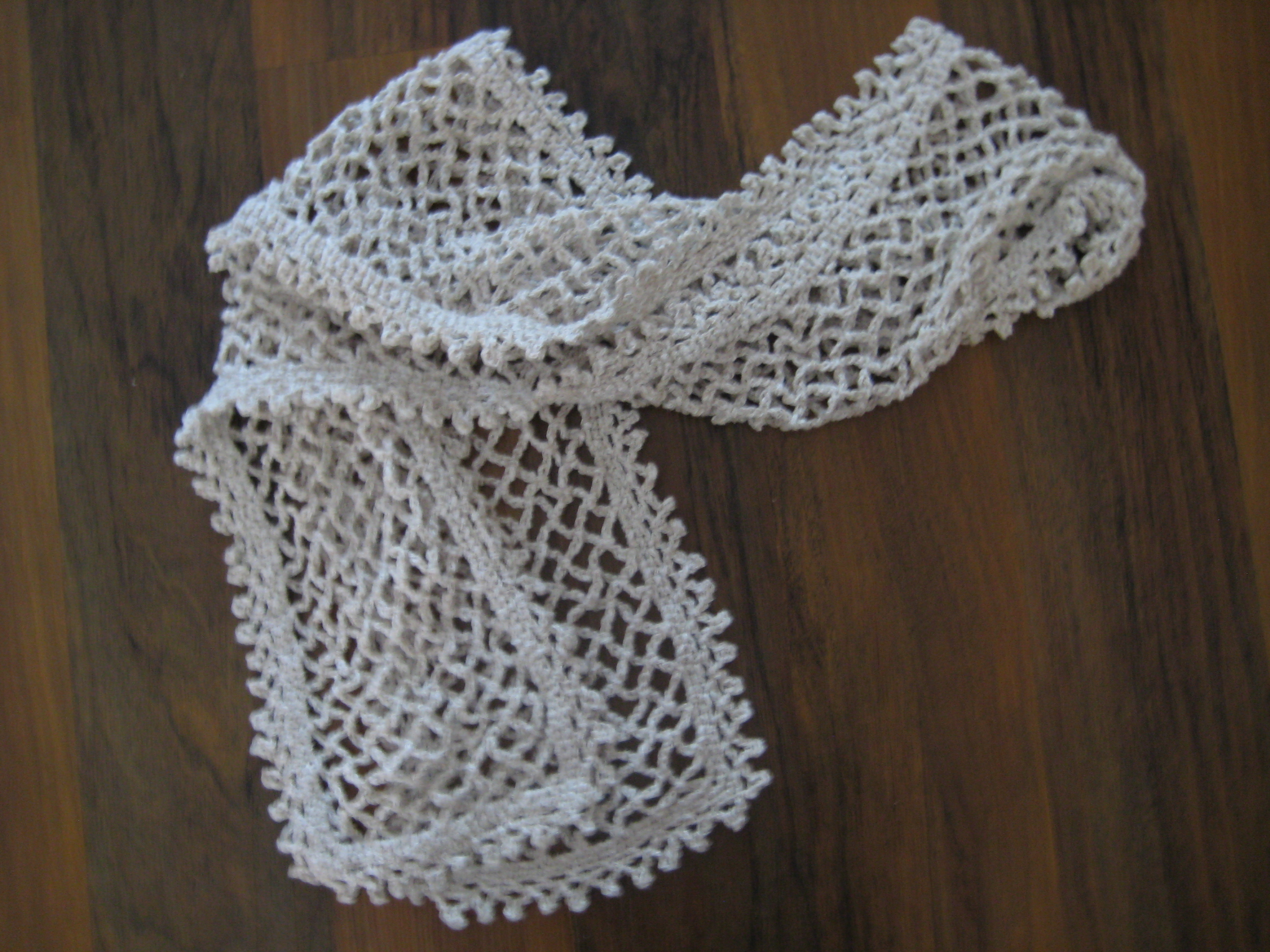 Free Crochet Scarf Edging Patterns : Chained Scarf with Picot Edging Make My Day Creative