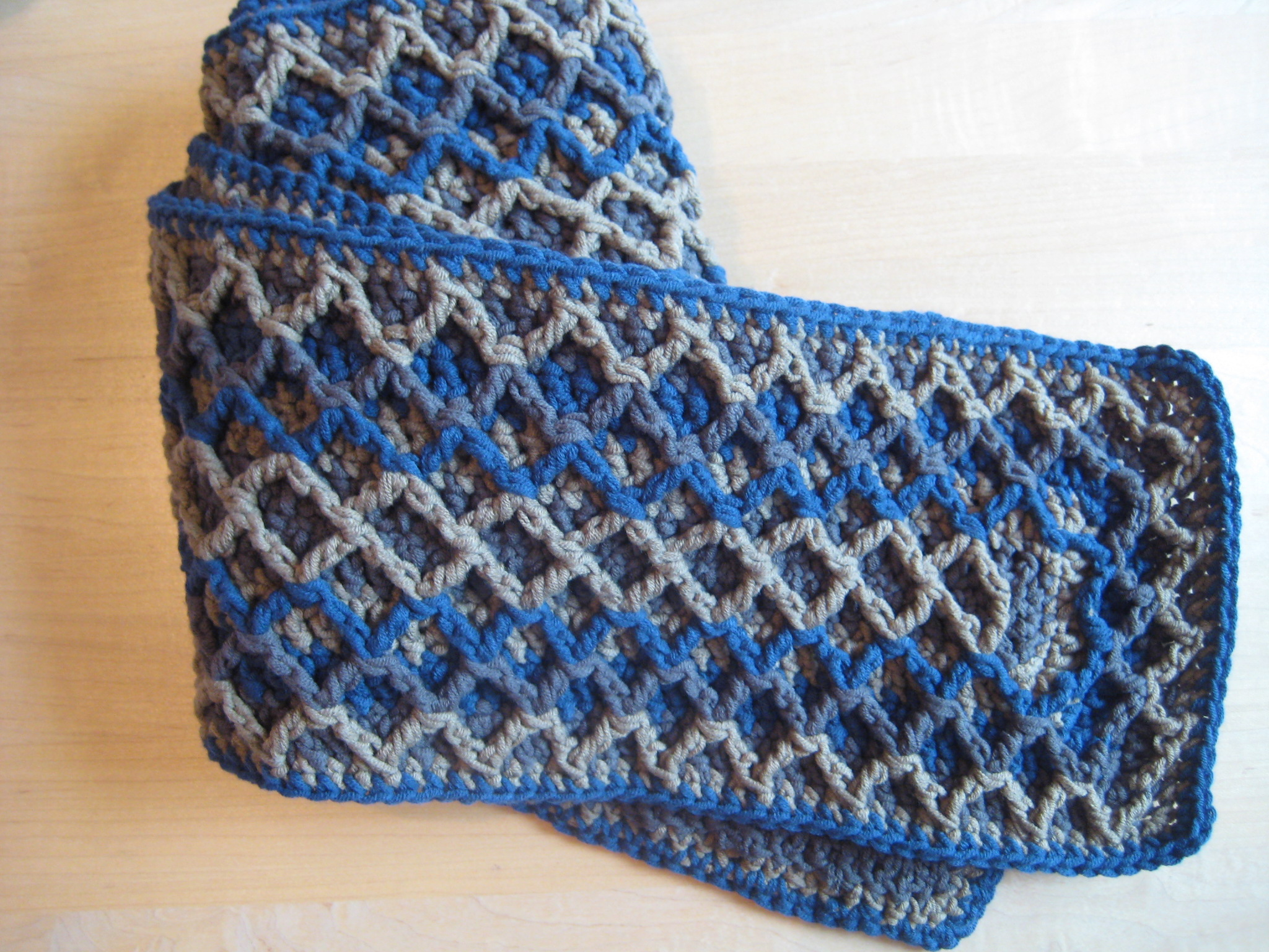 Crochet Zig Zag Scarf : Scarf and Cowl Patterns Make My Day Creative