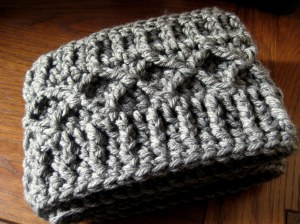 Diamond pattern with ribbing
