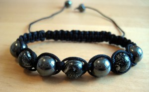 Black option with haematite beads