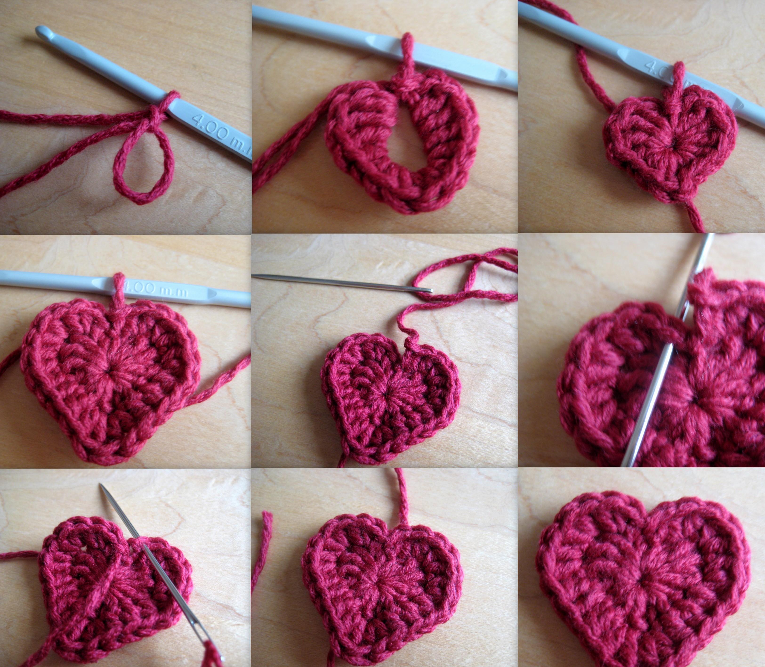 Heart Motifs: Crochet Pattern