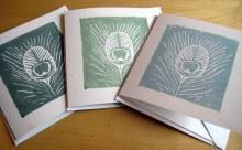 Linoprinted cards
