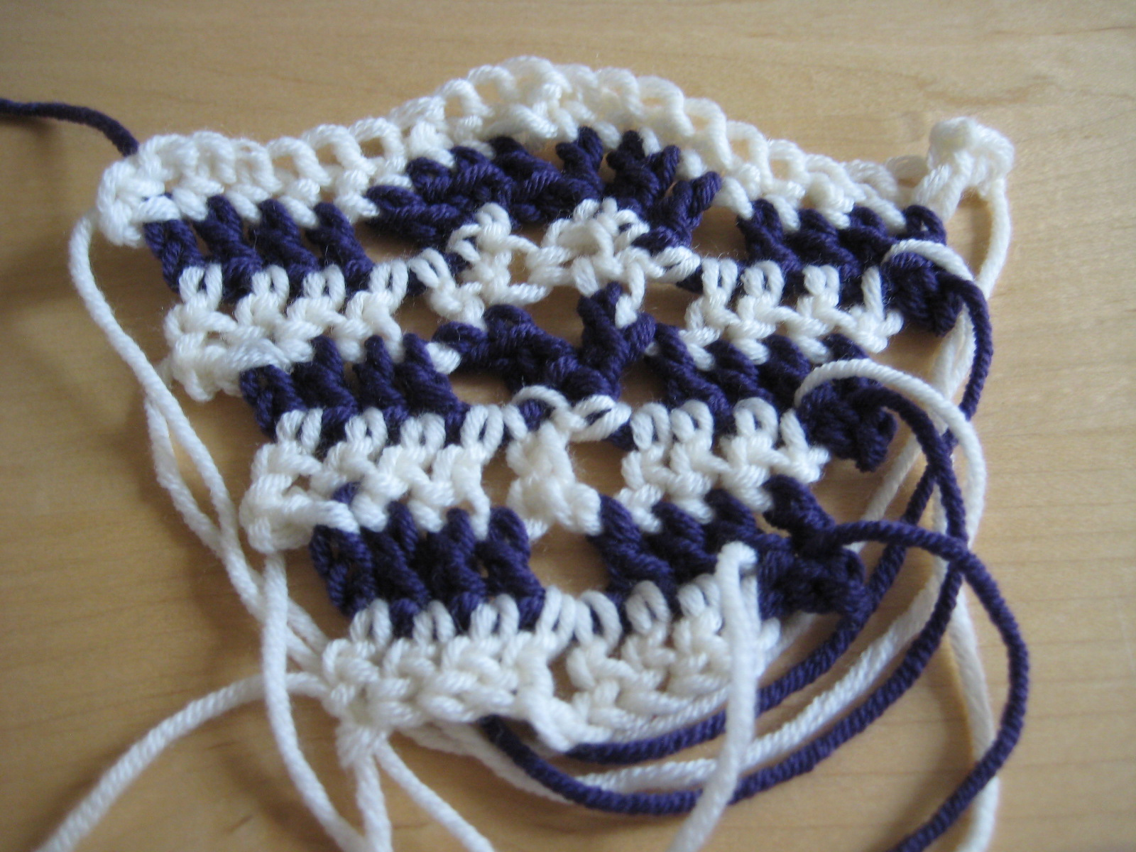 How to design crochet patterns part 3a shaping in crochet stitch make a swatch decreasing by an entire stitch pattern over a number of rows bankloansurffo Image collections