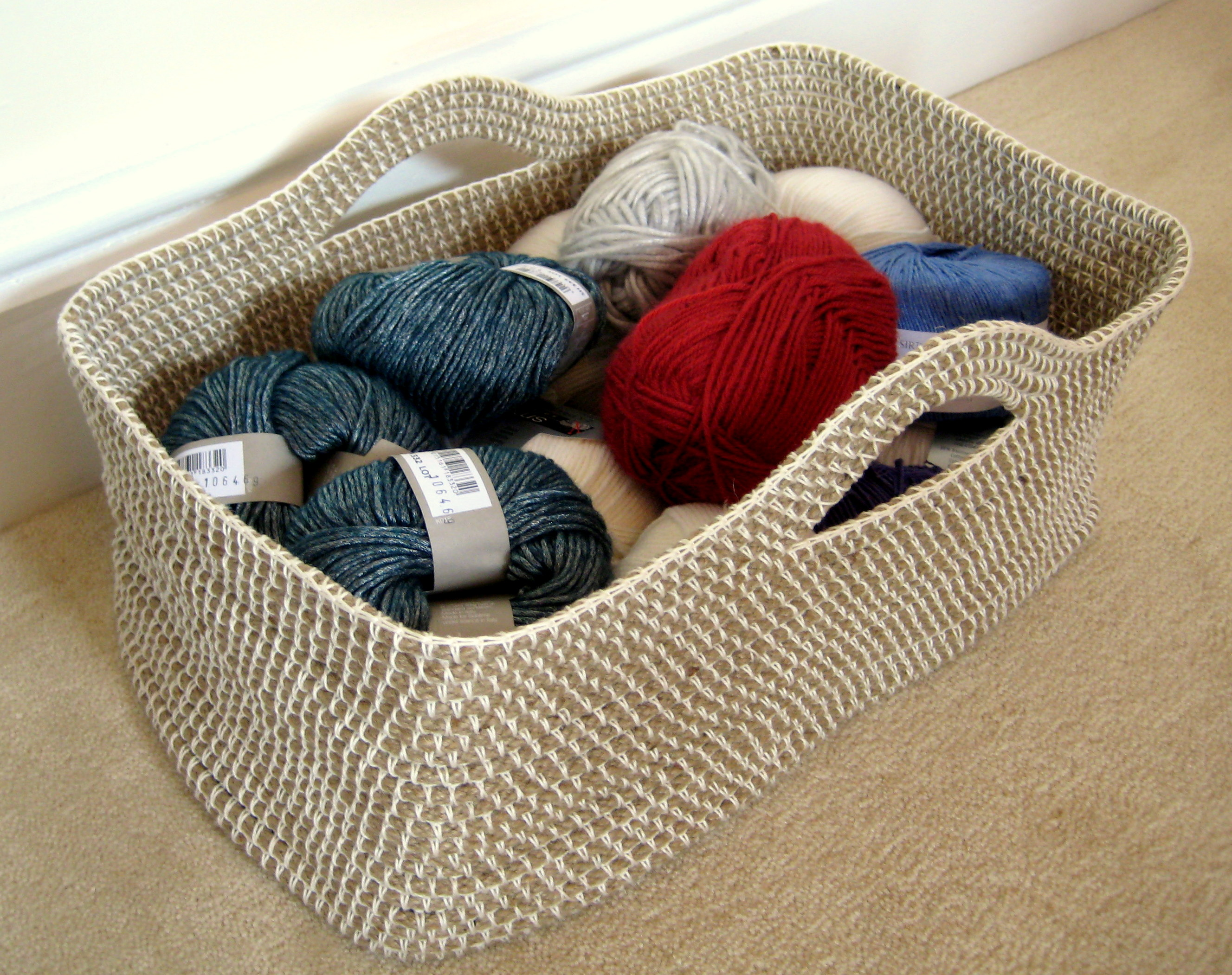 Crochet Stitches Basket : Crochet Rope Basket Make My Day Creative