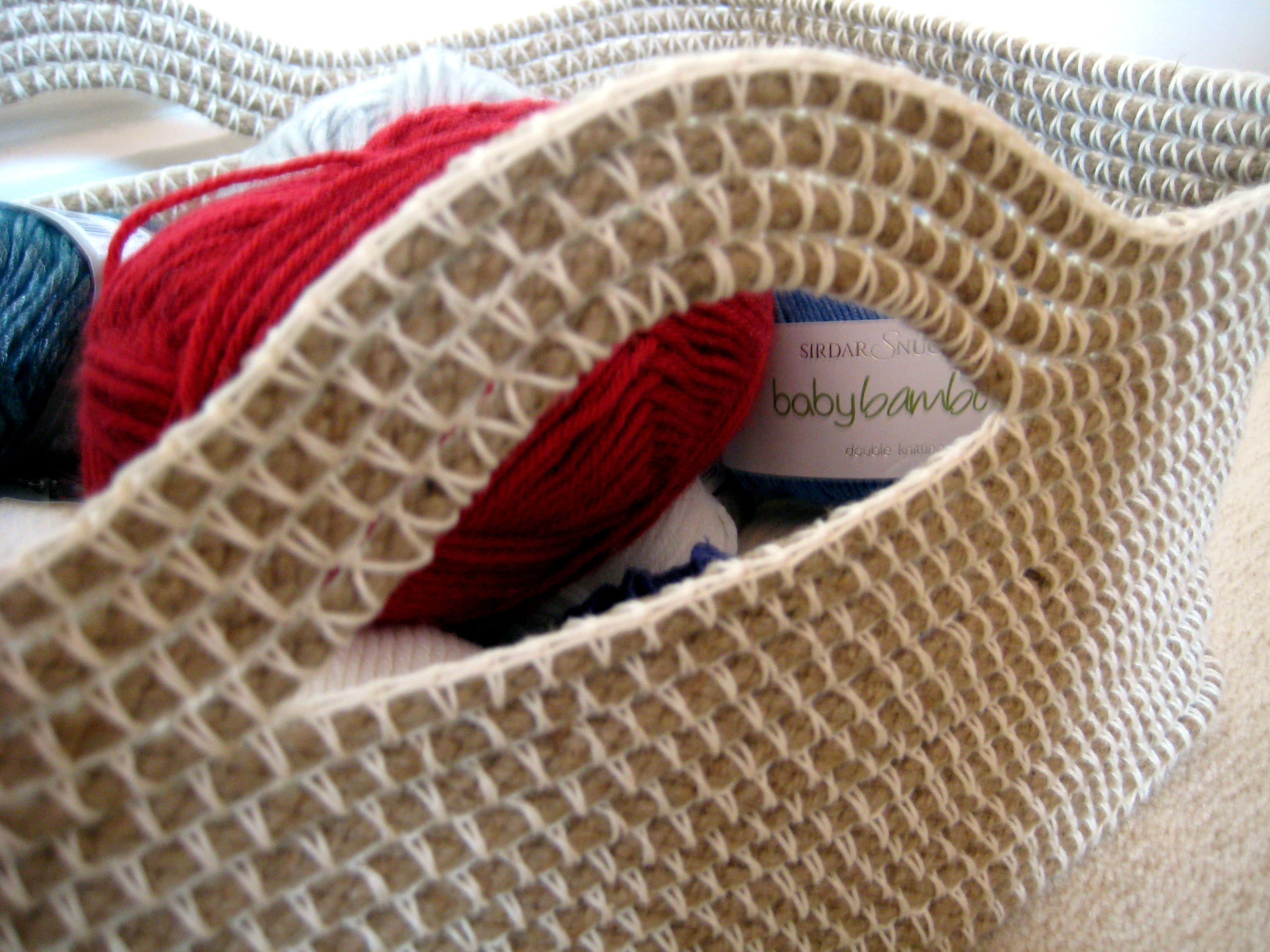Crocheting Rope : Crochet Rope Basket Make My Day Creative