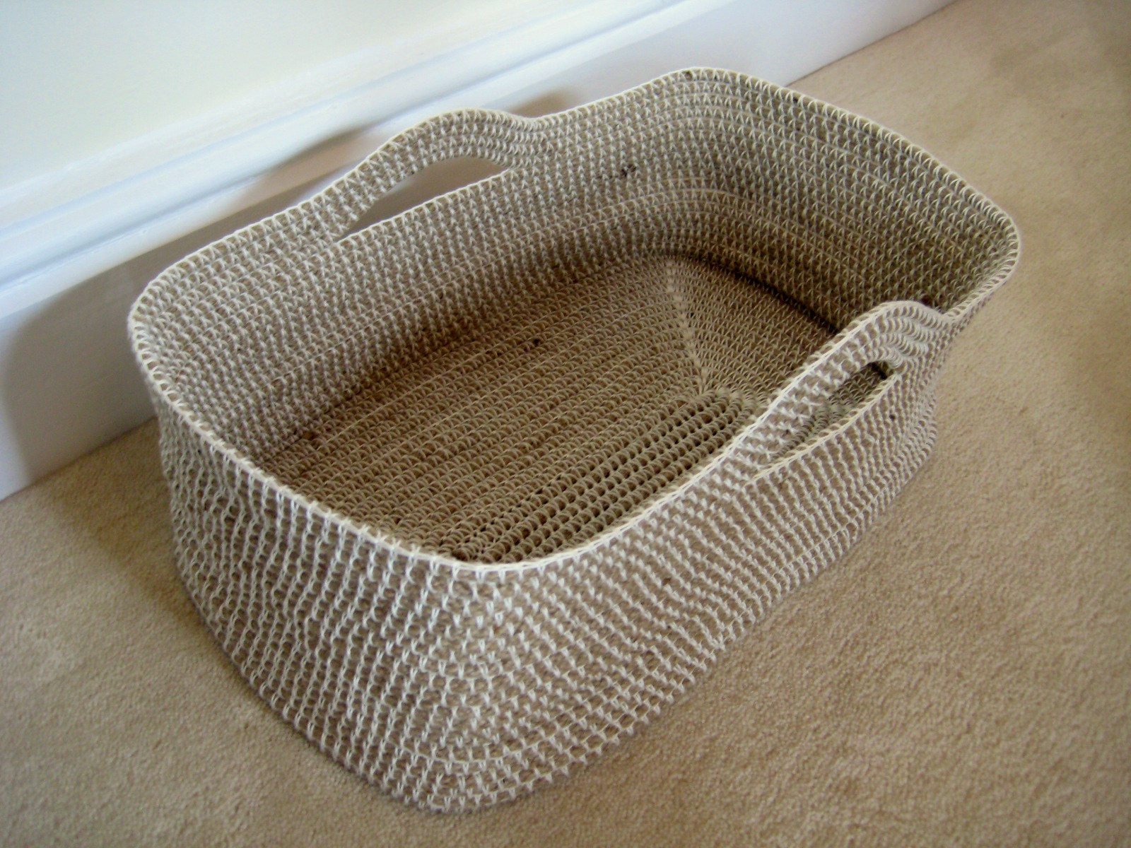 Crocheting Over Ends : Crochet Rope Basket Make My Day Creative