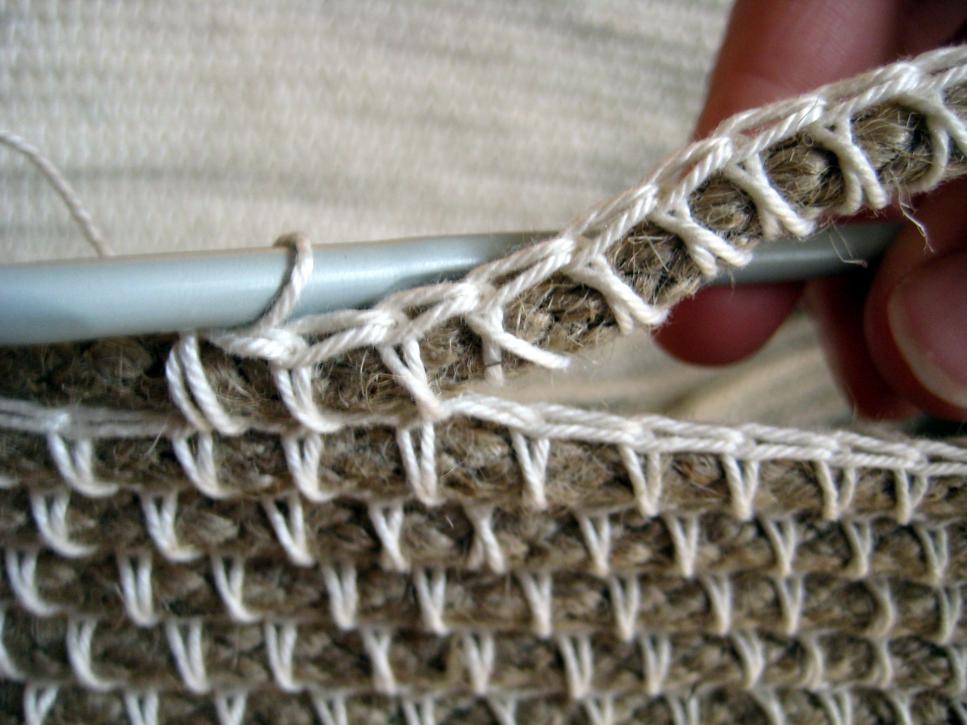 Crochet rope basket make my day creative finishing handle bankloansurffo Image collections