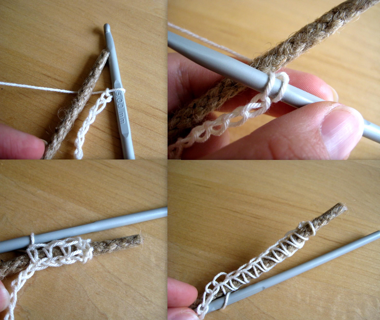 Crochet rope basket make my day creative how to start round 1 jeuxipadfo Gallery