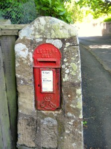 Love old post boxes.  They can be tucked away anywhere, including in the end of this old wall... :)