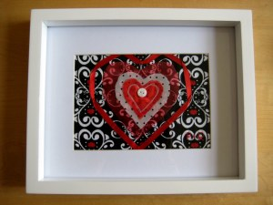 Fabric Heart Picture Tutorial
