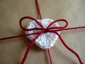 Make an extra heart so you can co-ordinate your gift and card!