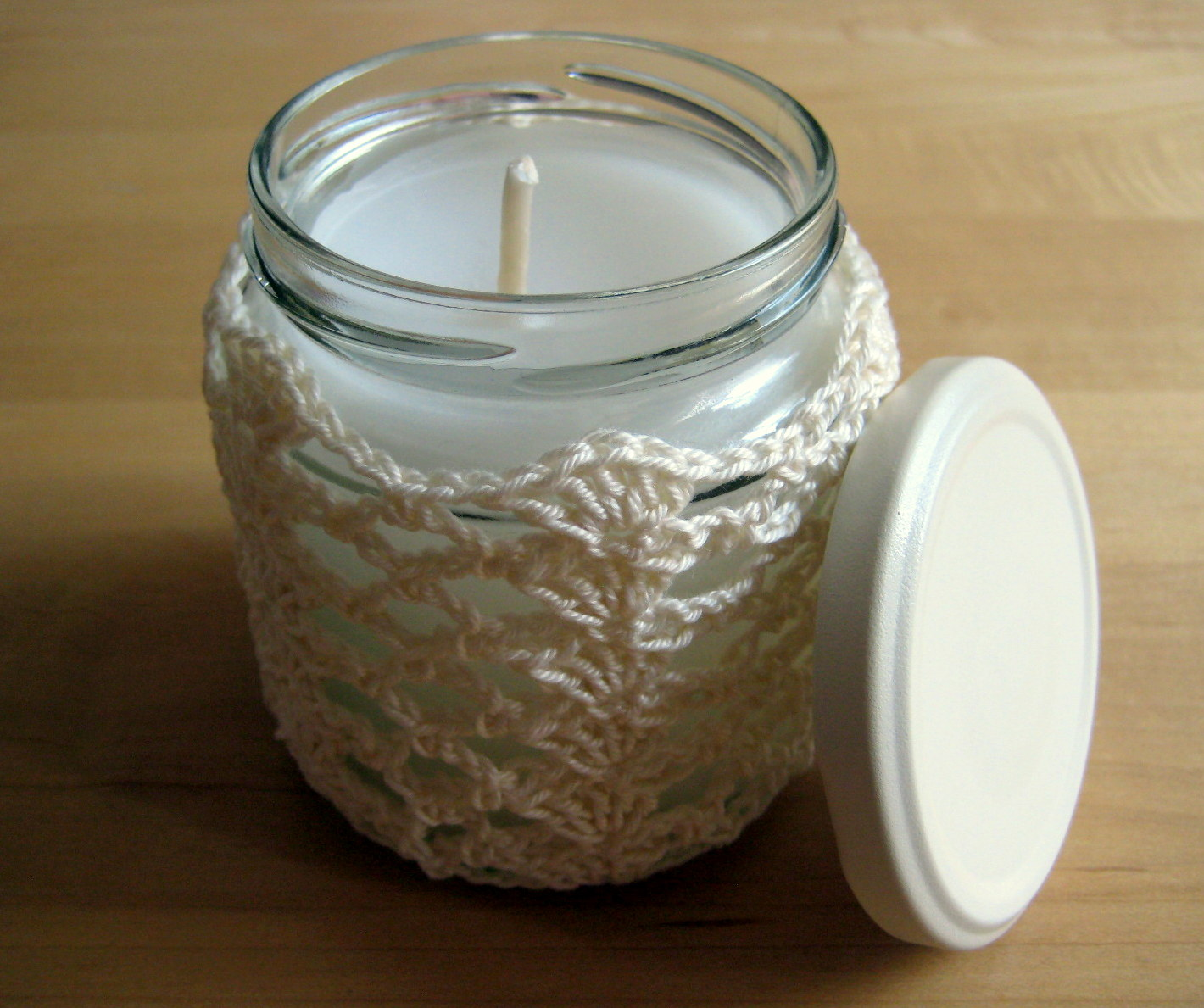 Crochet Jar Cover IShells and Lace Make My Day Creative