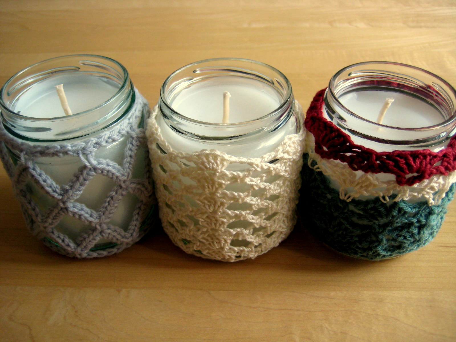 Crochet Jar Cover IIILattice Effect Make My Day Creative