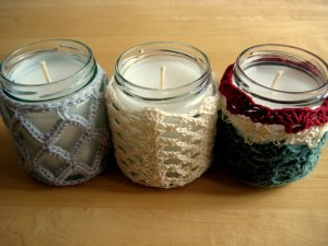My series of 3 candle covers