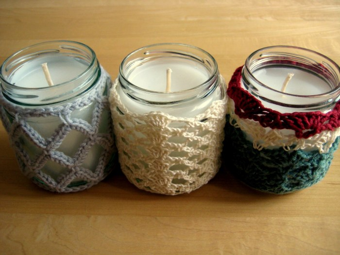 How to make crochet jar candles
