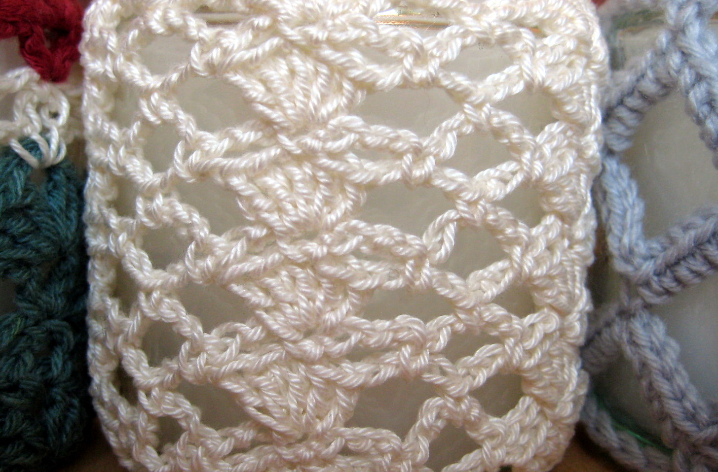Crochet Patterns Jar Covers : Crochet Jar Cover I: Shells and Lace Make My Day Creative