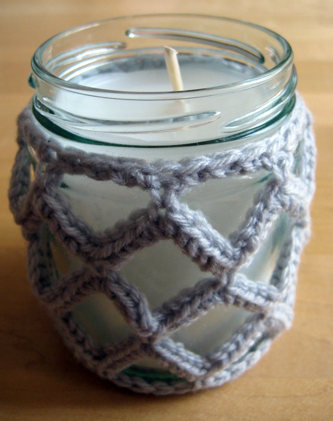 Crochet Patterns Jar Covers : Crochet Jar Cover III: Lattice Effect Make My Day Creative