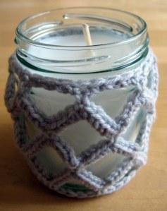 Crochet Jar Cover III: Lattice Effect