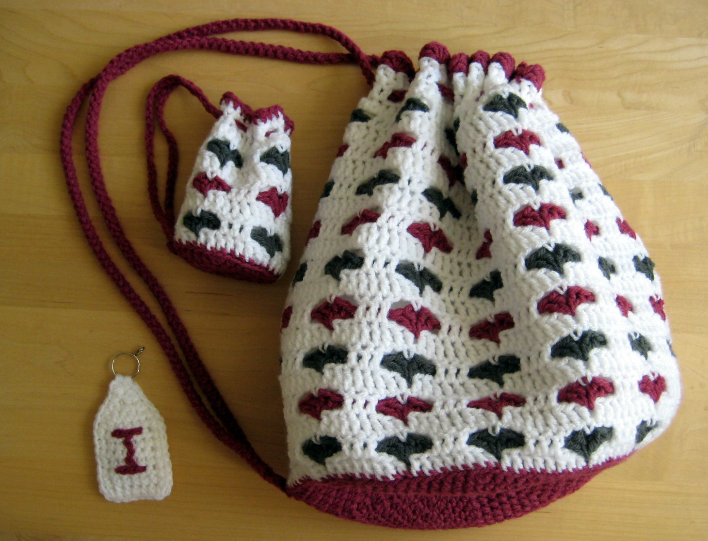 Gallery For > Crochet Patterns For Bags Drawstring