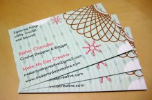 It's official, I have business cards! How do you like them?