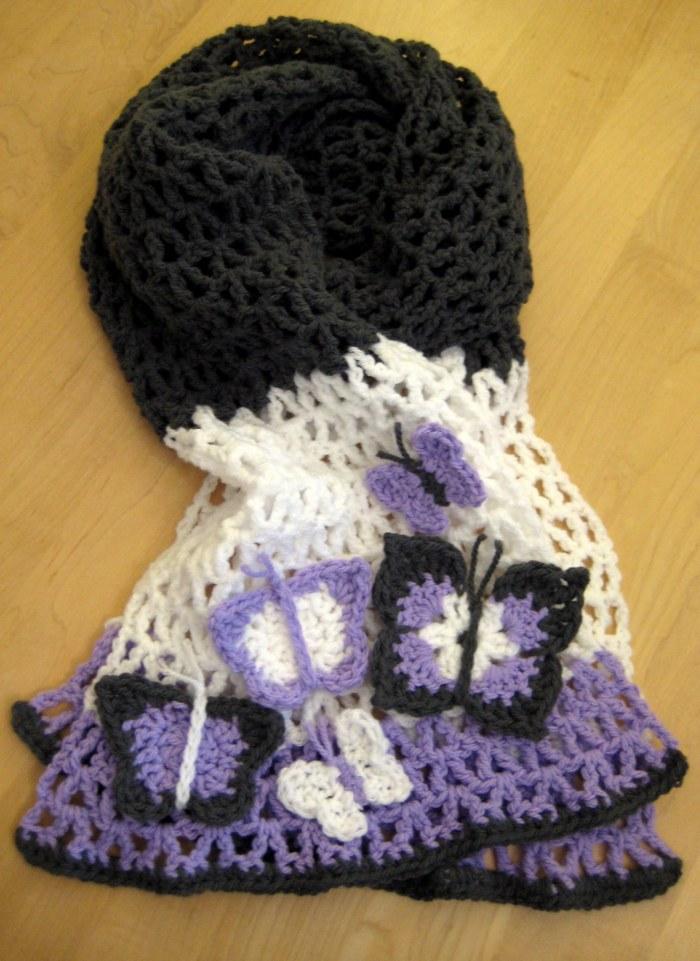 Butterfly scarf crochet pattern
