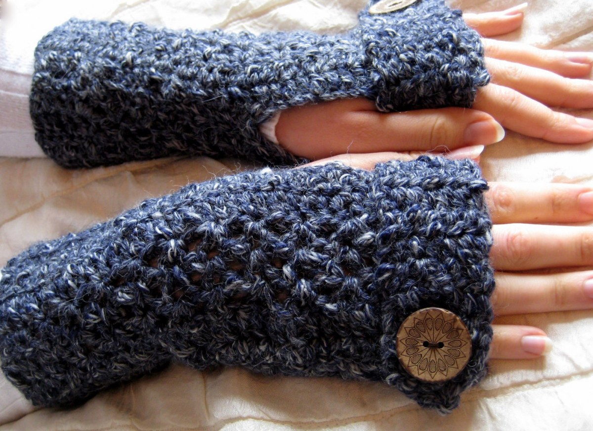 Easy Textured Fingerless Gloves