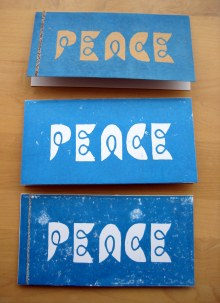 Wishing you peace at Christmas time... via a linocut card!