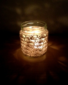 Jojo74's Lace jar candle cover