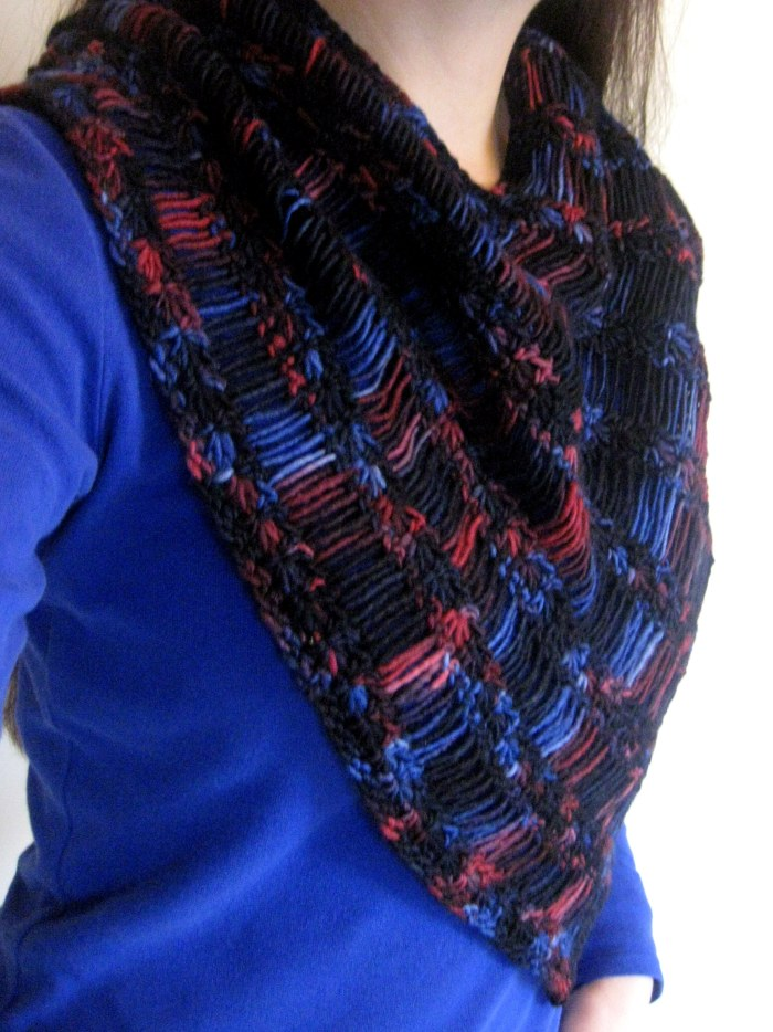 Shooting Stars Cowl Free Crochet Pattern