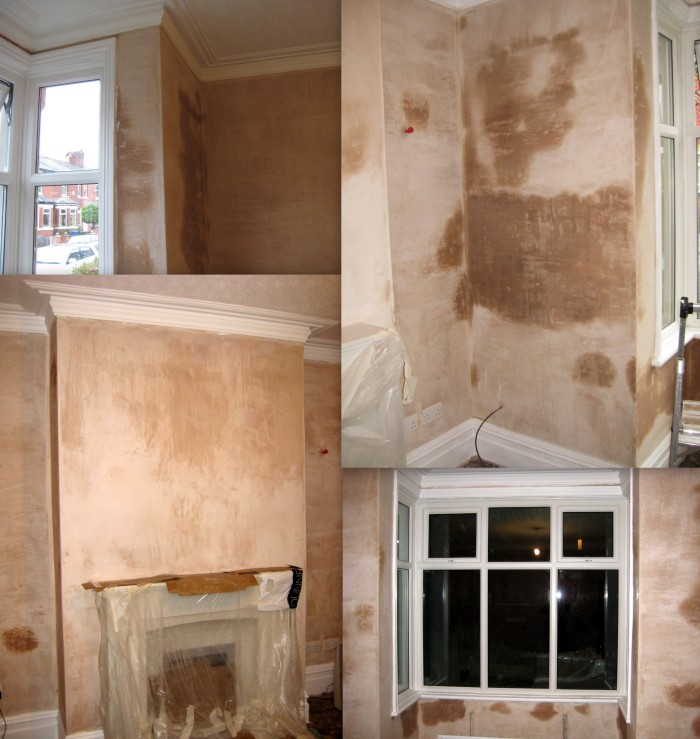 After plastering - it took a while to dry!