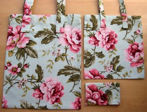 Sew a matching shopping set
