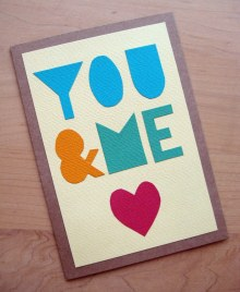 Simple Letters Card