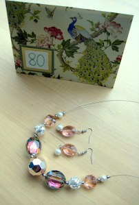 Pink Facets Necklace and Earrings (19)
