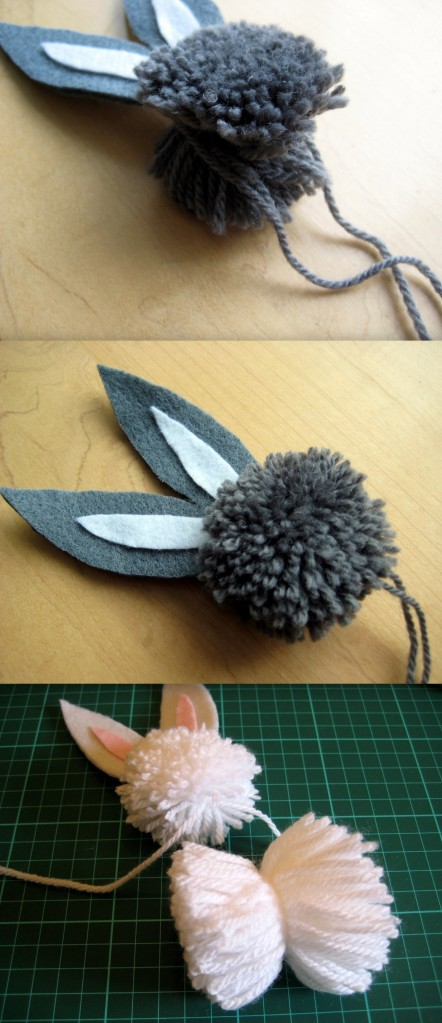 How to tie a pompom bunny together