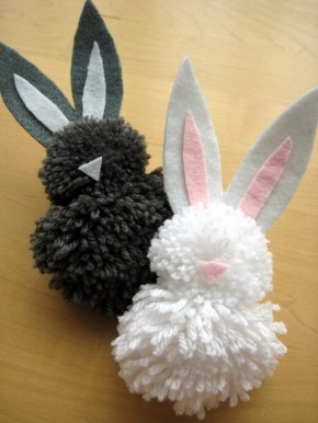 Easter Bunny Pompoms