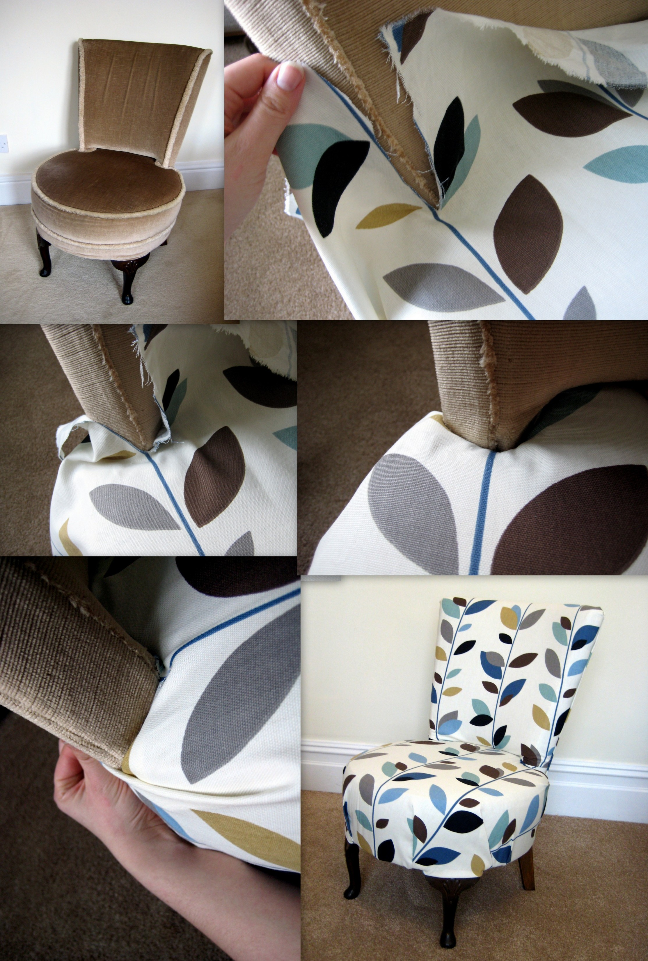 How To Re Upholster A Chair