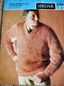Hairy peach jumper for men!