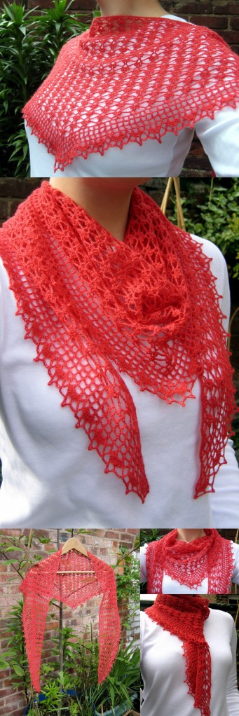 Summer Sprigs Lace Scarf - Free crochet pattern!