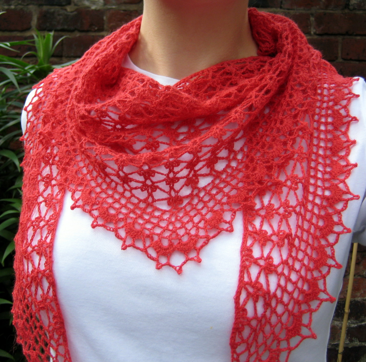 Free Crochet Patterns For Lightweight Scarves : Summer Sprigs Lace Scarf Make My Day Creative