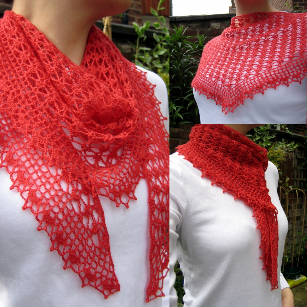Summer Sprigs Lace Shawl Free Crochet Pattern : Summer Sprigs Lace Scarf Make My Day Creative
