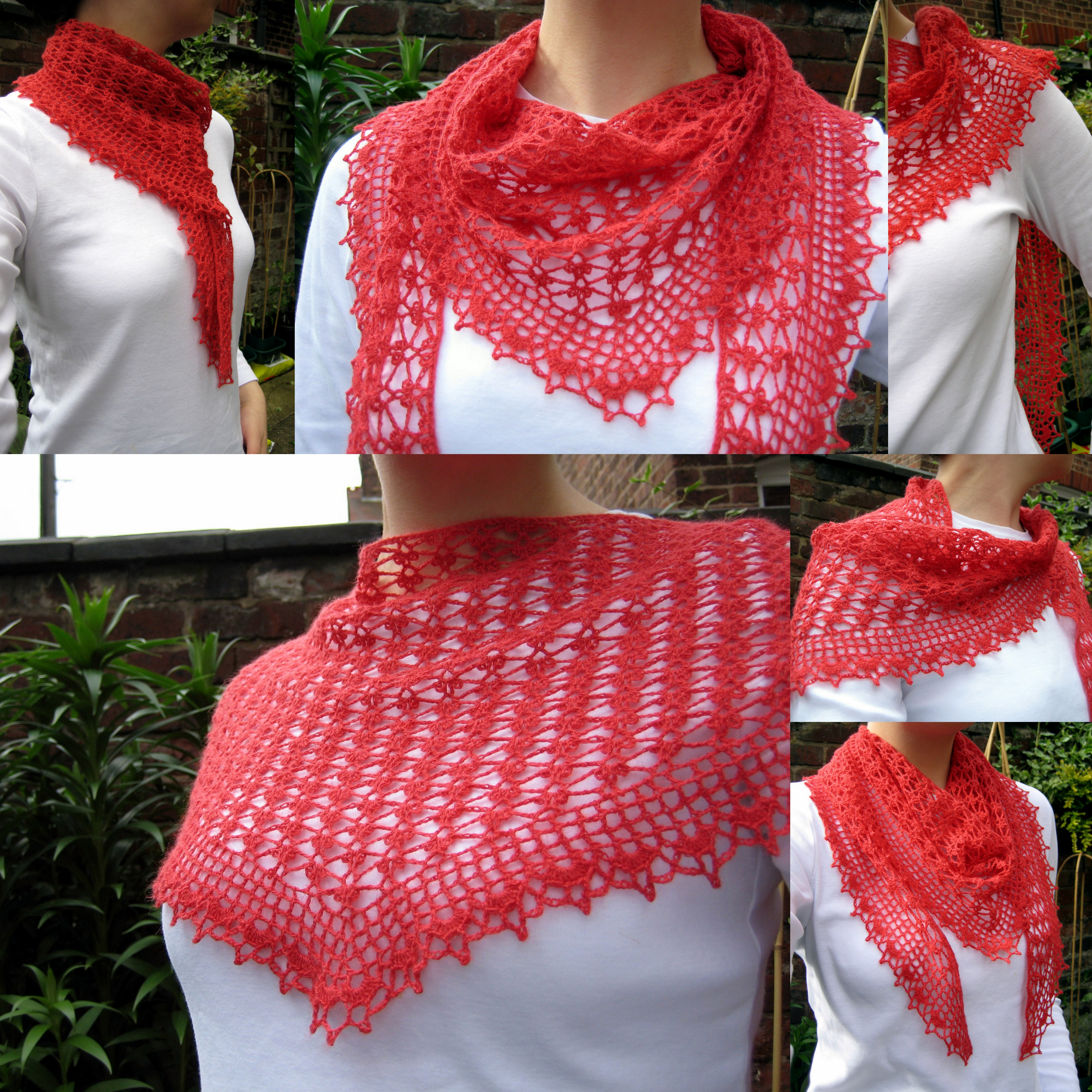 Summer Sprigs Lace Shawl Free Crochet Pattern : Ways to wear Summer Sprigs Lace Scarf