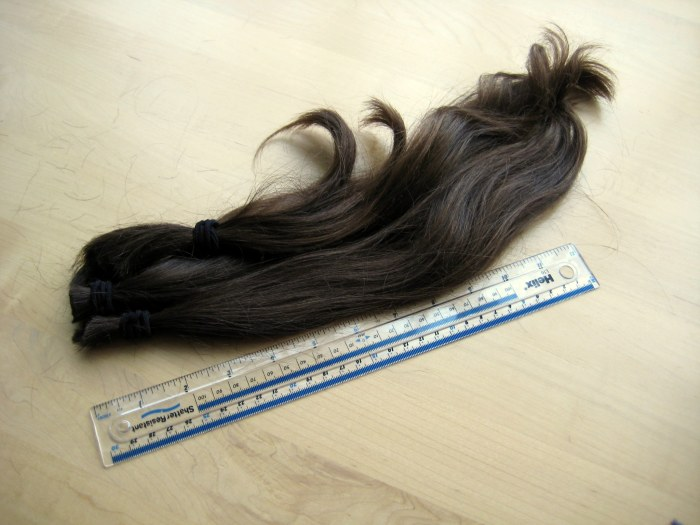 Hair for donation