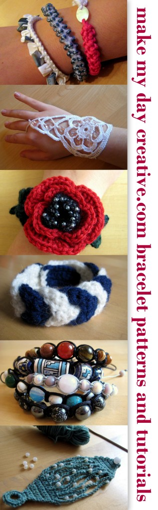 Bracelet Patterns and Tutorials Round up from makemydaycreative.com