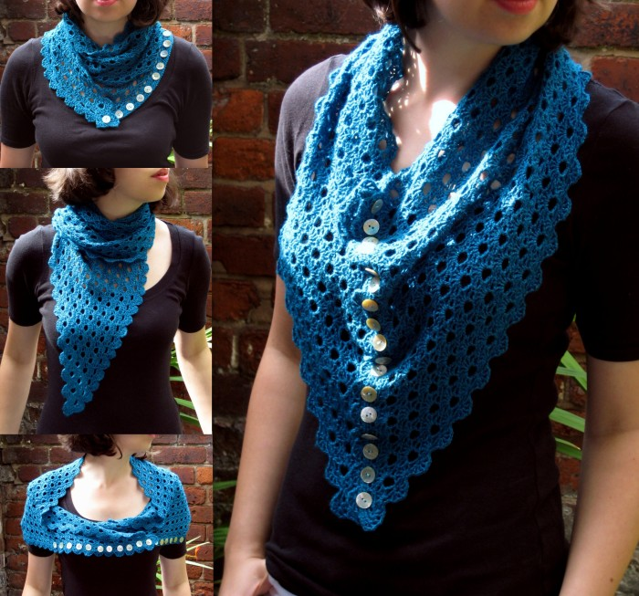 Multiplicity Shawl is a top down construction