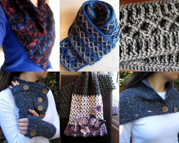 Free crochet scarf patterns for autumn from makemydaycreative.com
