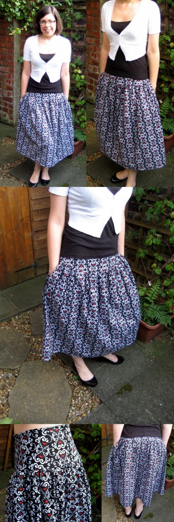Enjoying the evening sunshine in my new pretty and comfy skirt :)