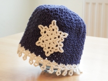 Increasing in V-stitch pattern for Icicles Baby Hat.  How to shape crochet stitch patterns by Make My Day Creative.