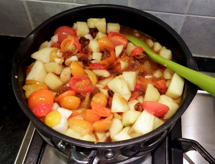 Rainbow Tomato Chutney (before cooking!)