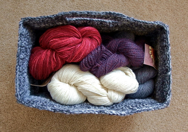 Crochet Rectangle Basket Pattern Free : Rectangular Diamond Trellis Basket Make My Day Creative